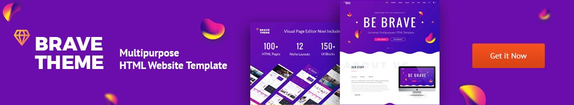 Brave Theme - Multipurpose HTML Template