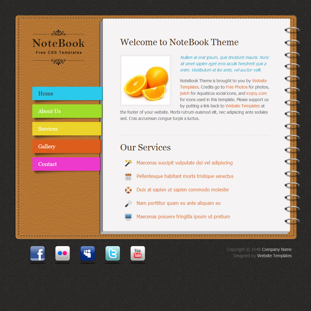 Notebook HTML Template