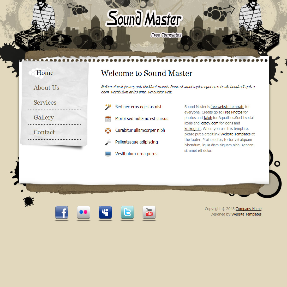 Sound Master HTML Template