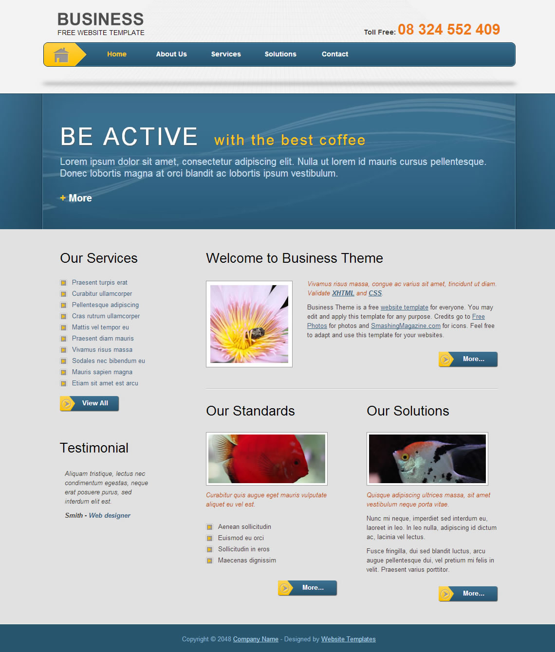 Business Template - Free HTML CSS Templates