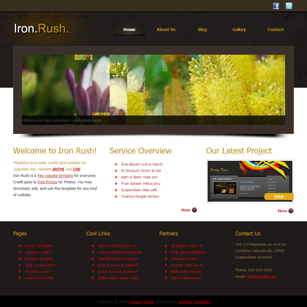 iron rush iron rush is free html css template - Html Templates Free Download
