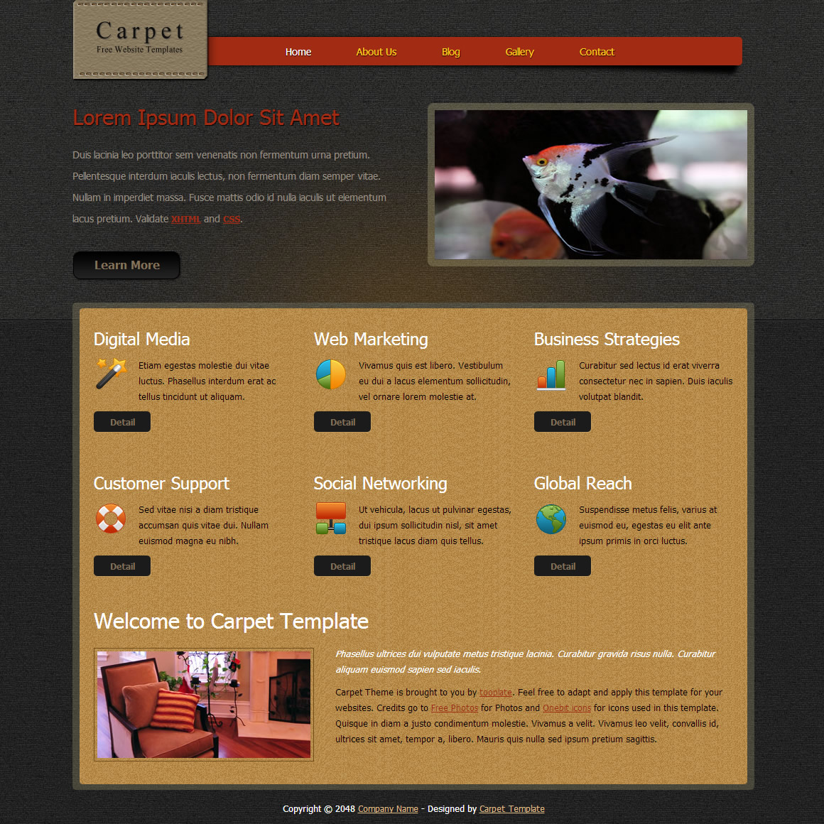 Carpet Design HTML Template
