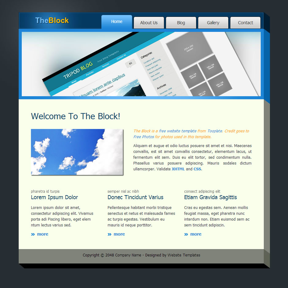 The Block HTML Template