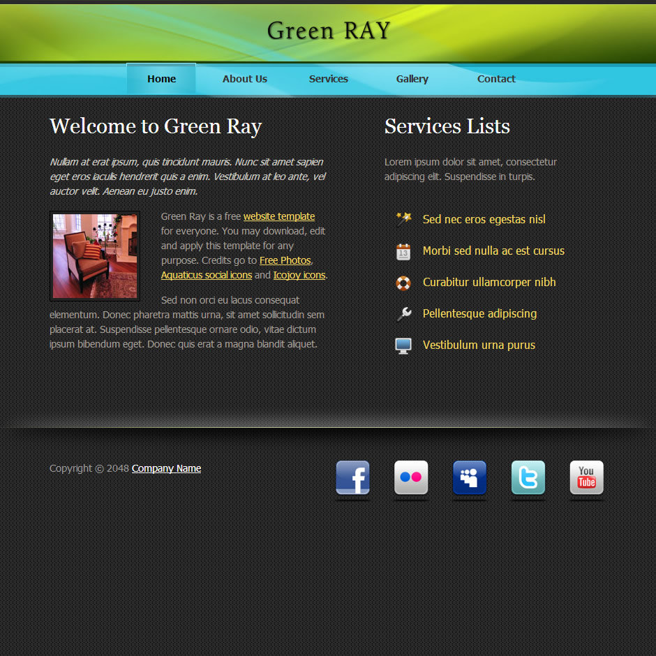Green Ray HTML Template