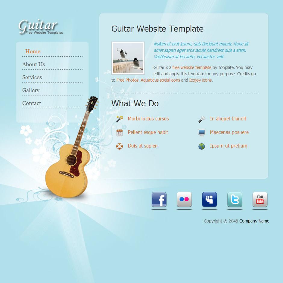 guitar free templates