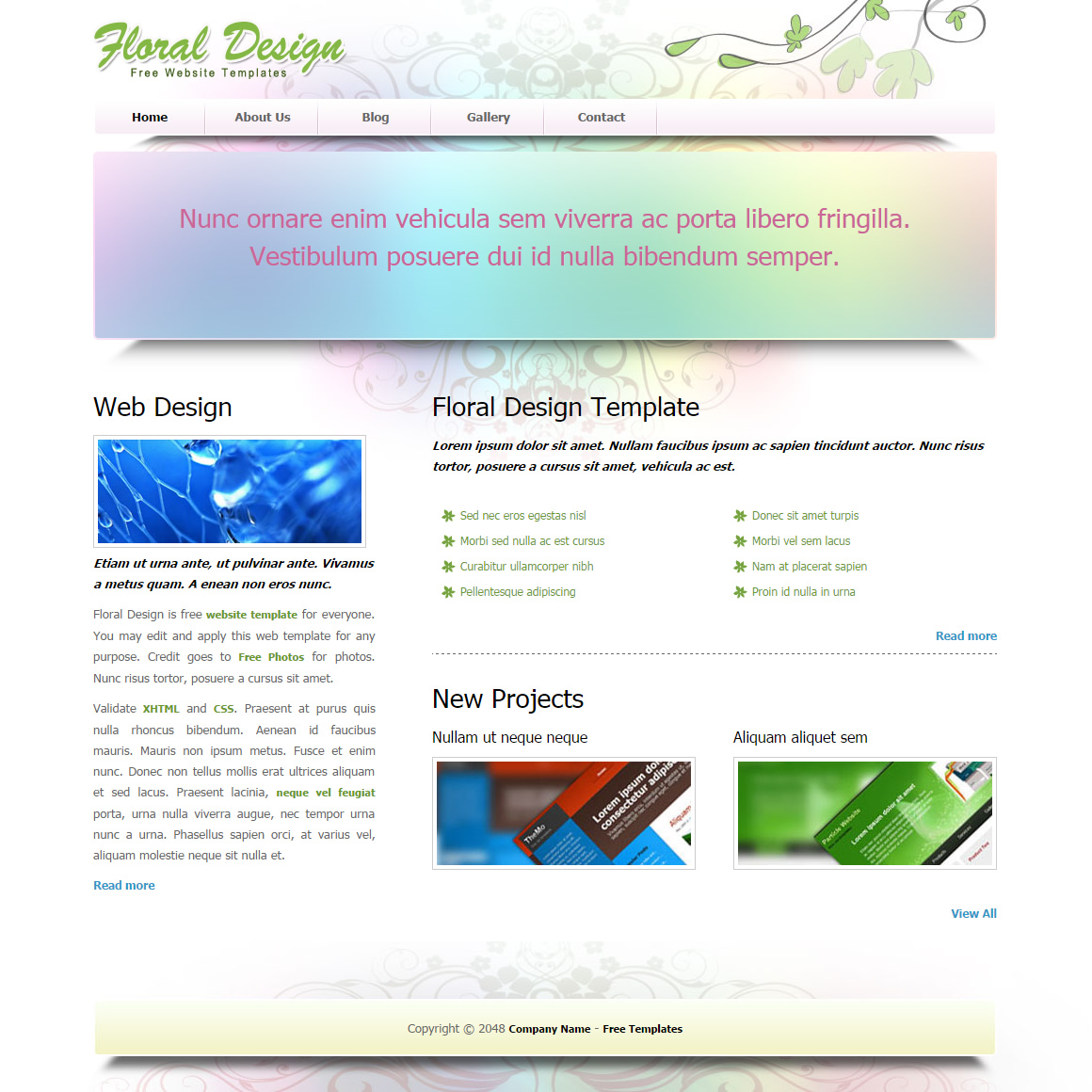 Floral Design HTML Template