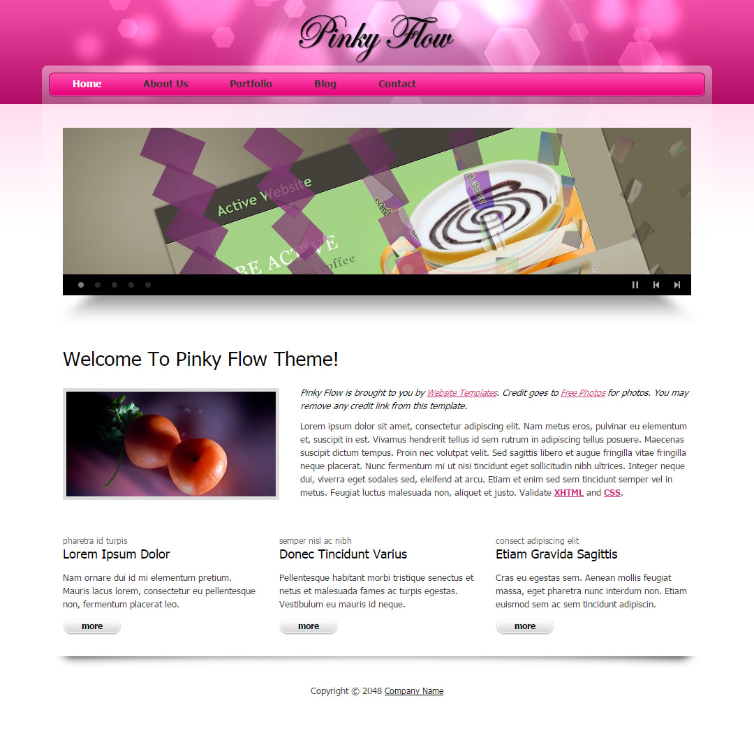 Pinky Flow HTML Template