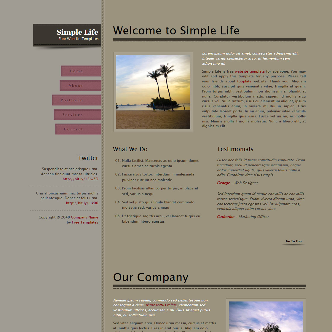 Simple Life HTML Template