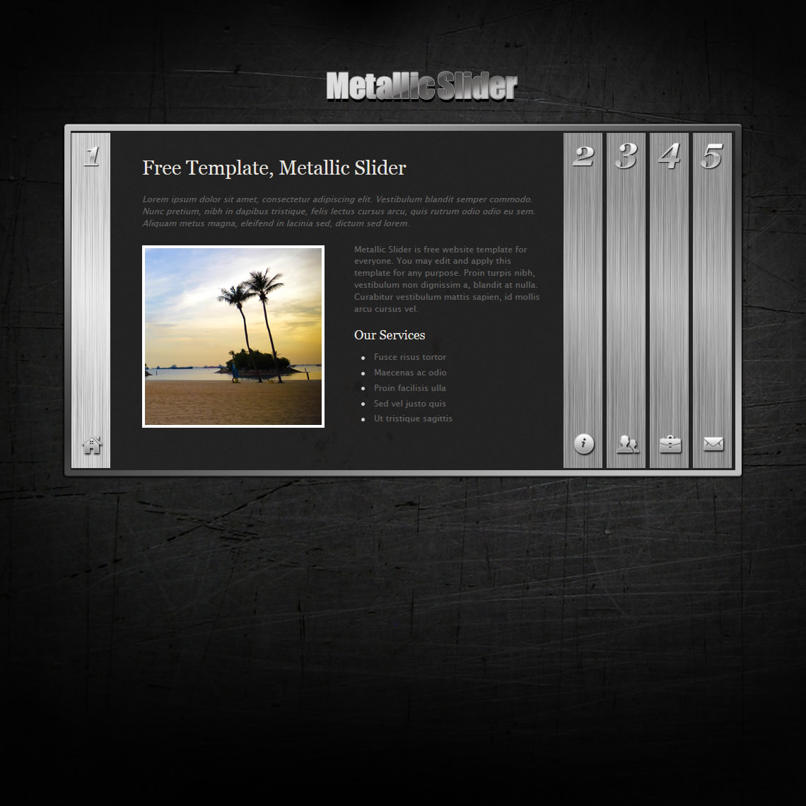 Metallic Slider Html Template