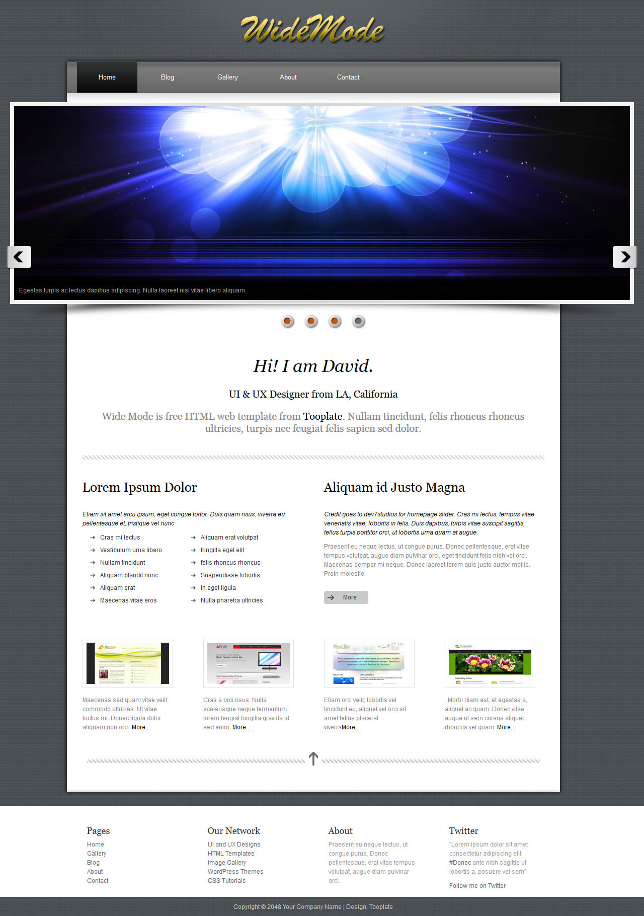 Wide Mode HTML Template