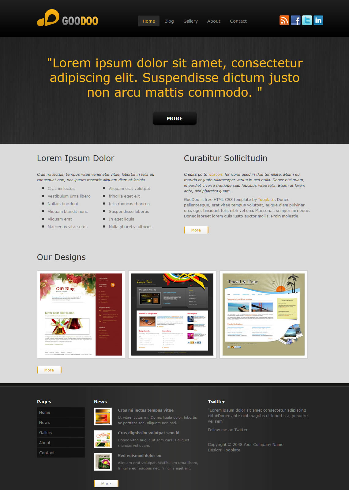 Page 3 - Free HTML CSS Templates
