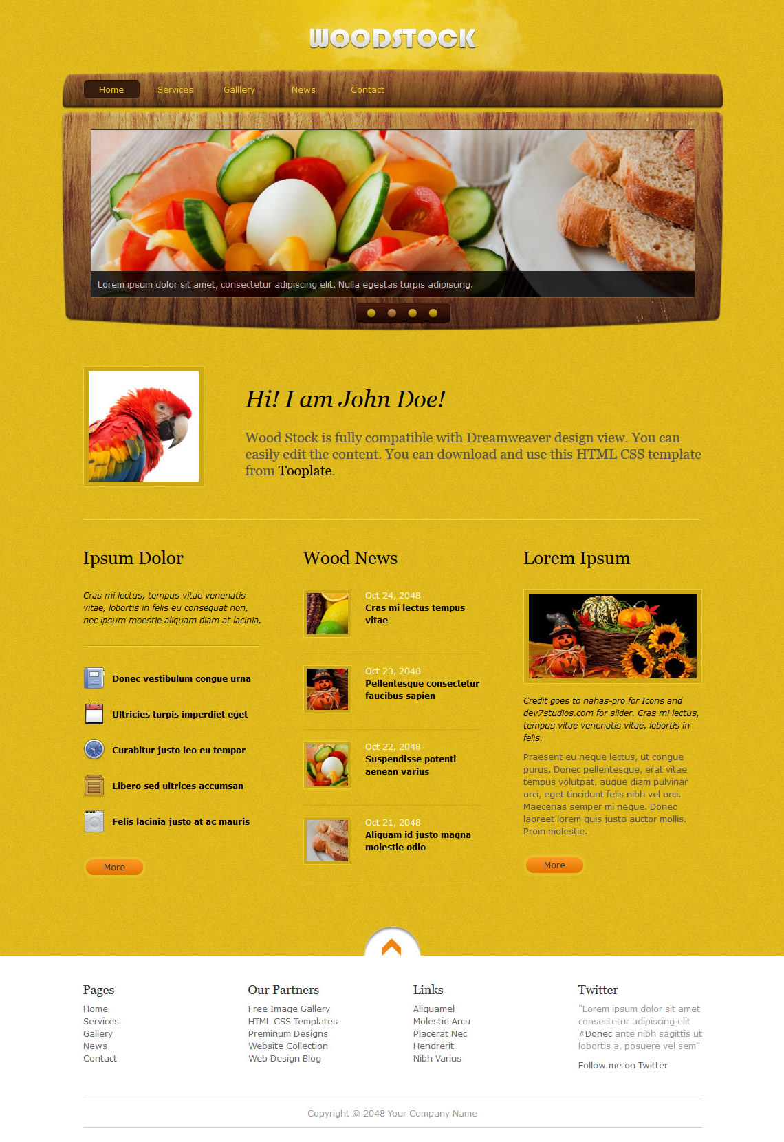Wood Stock HTML Template