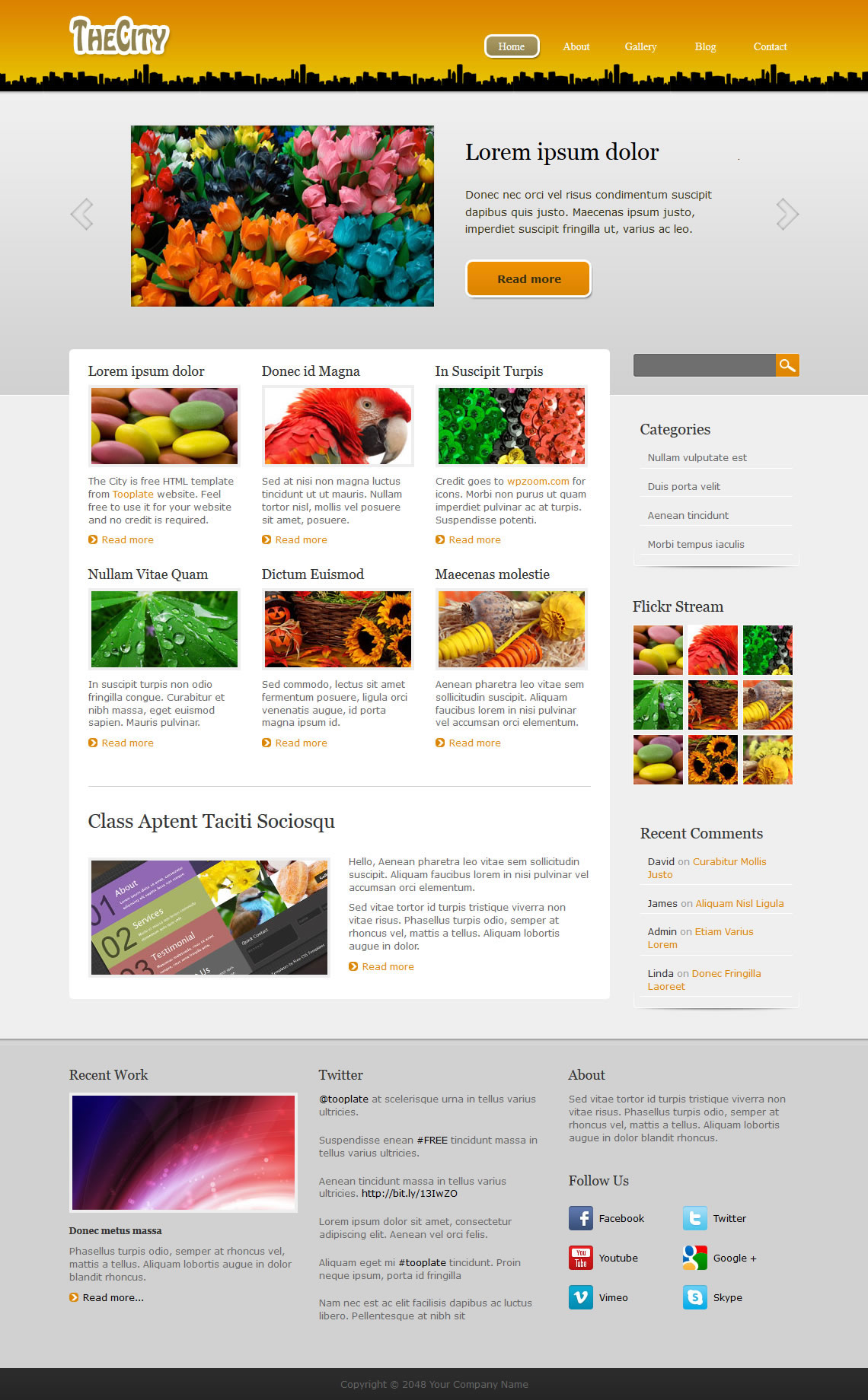 The City HTML Template