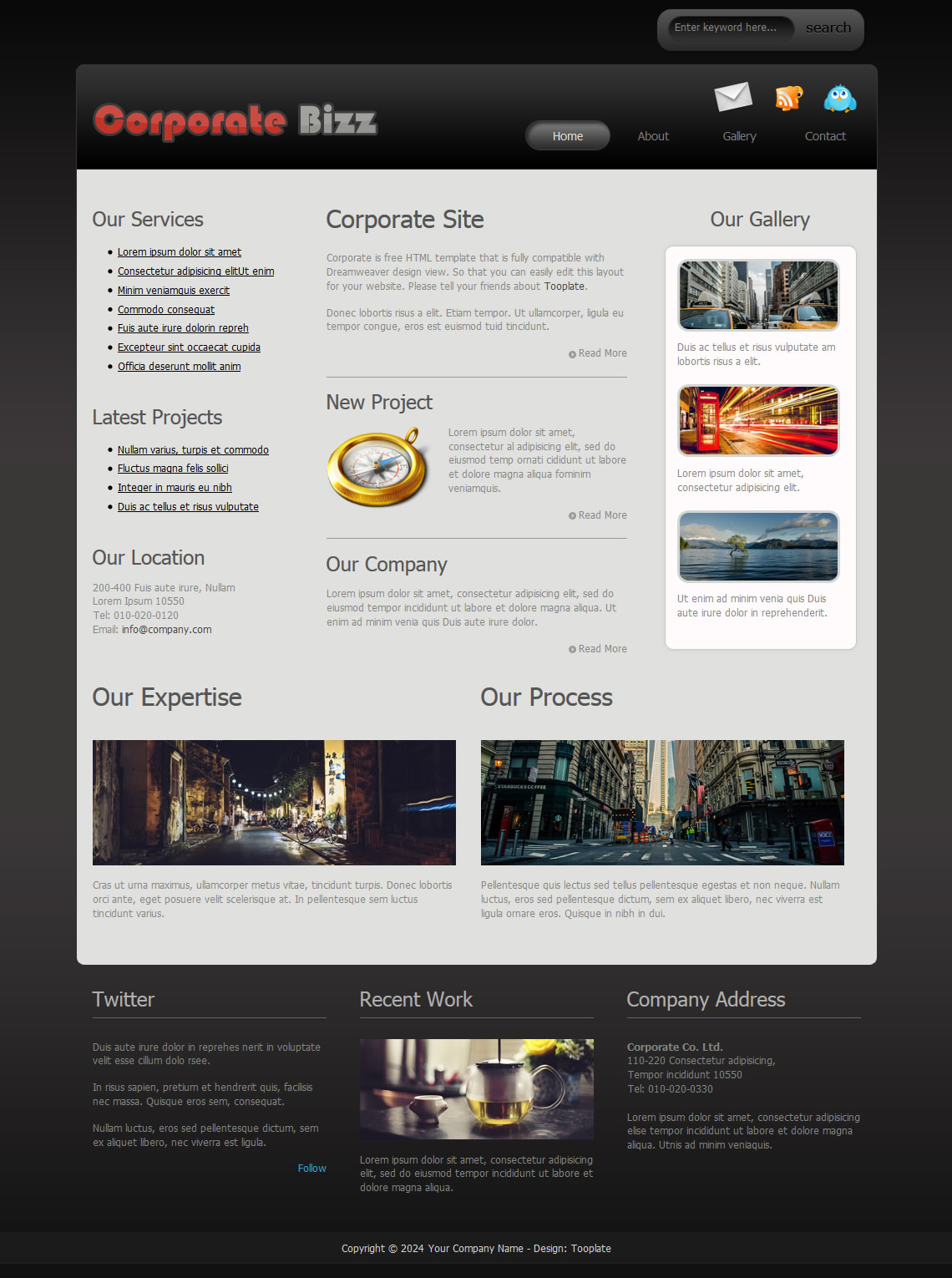 Corporate - Free HTML CSS Templates