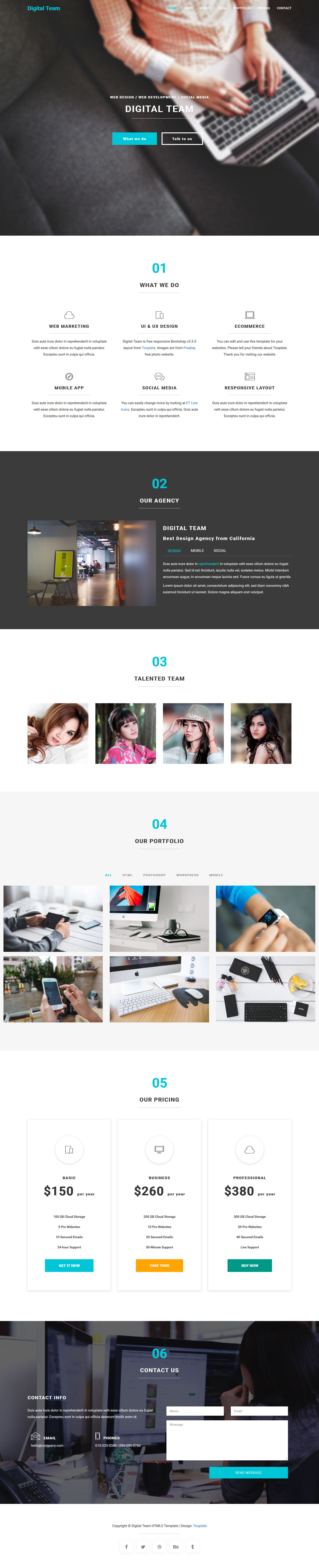 Digital Team HTML5 - Free Templates