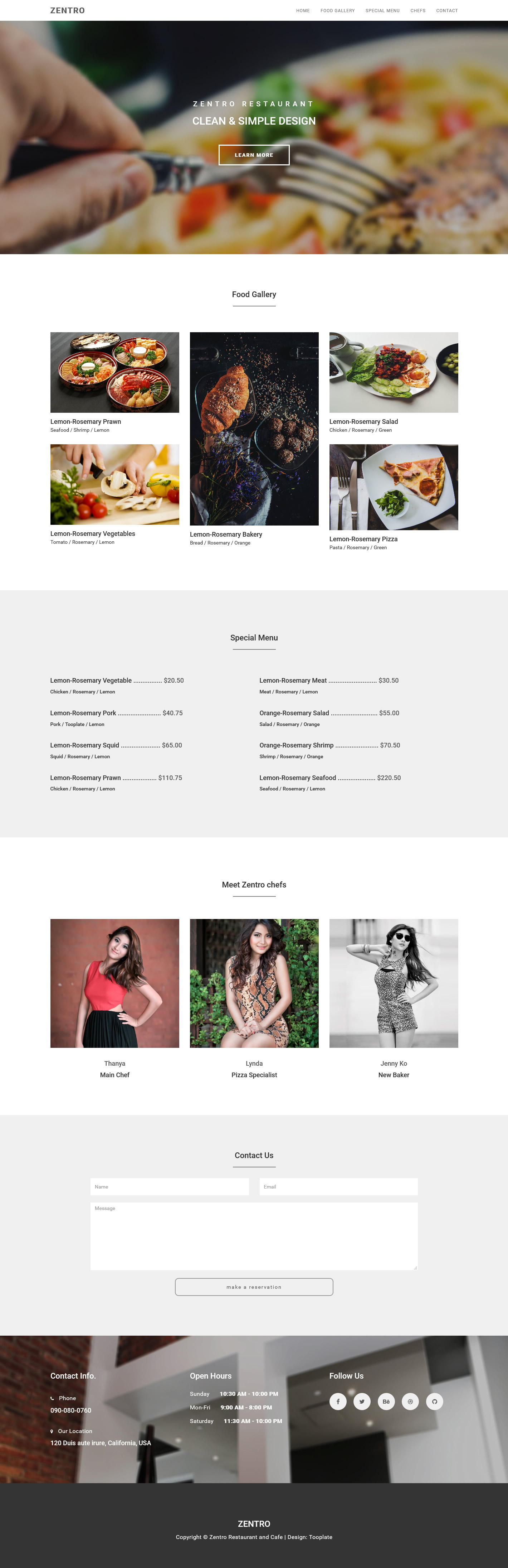 Zentro Bootstrap Theme HTML Template