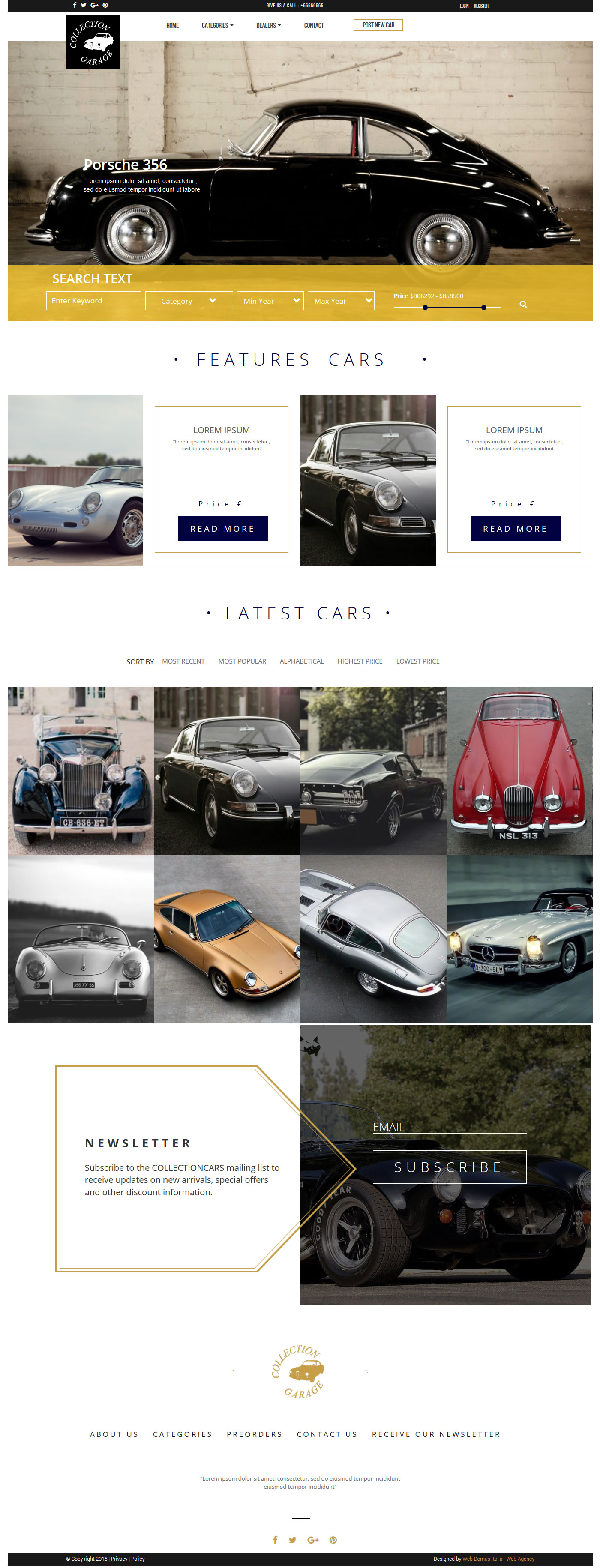 Garage Bootstrap Theme HTML Template