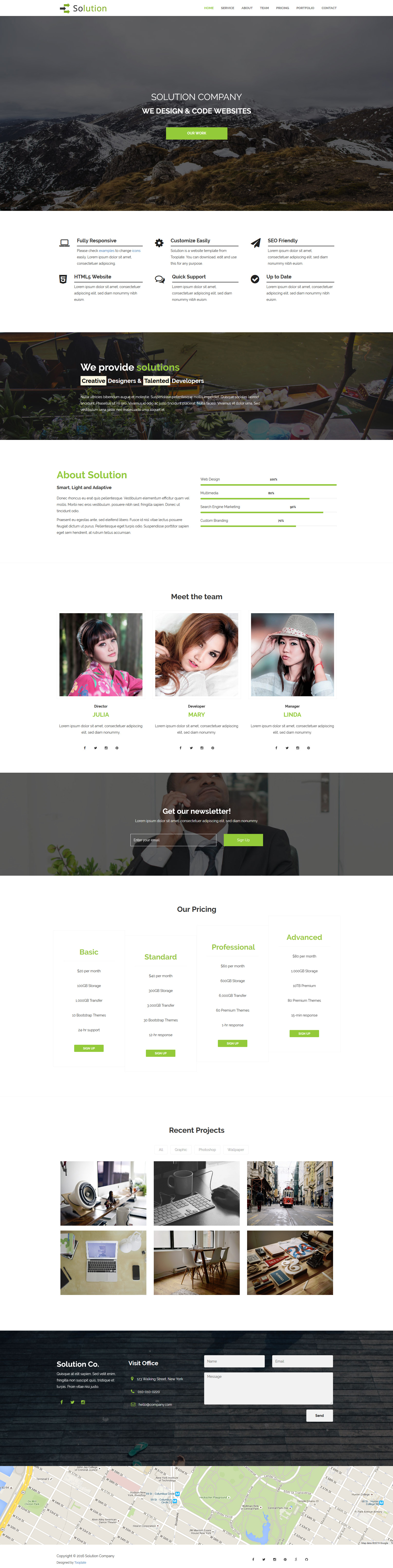Solution HTML Template