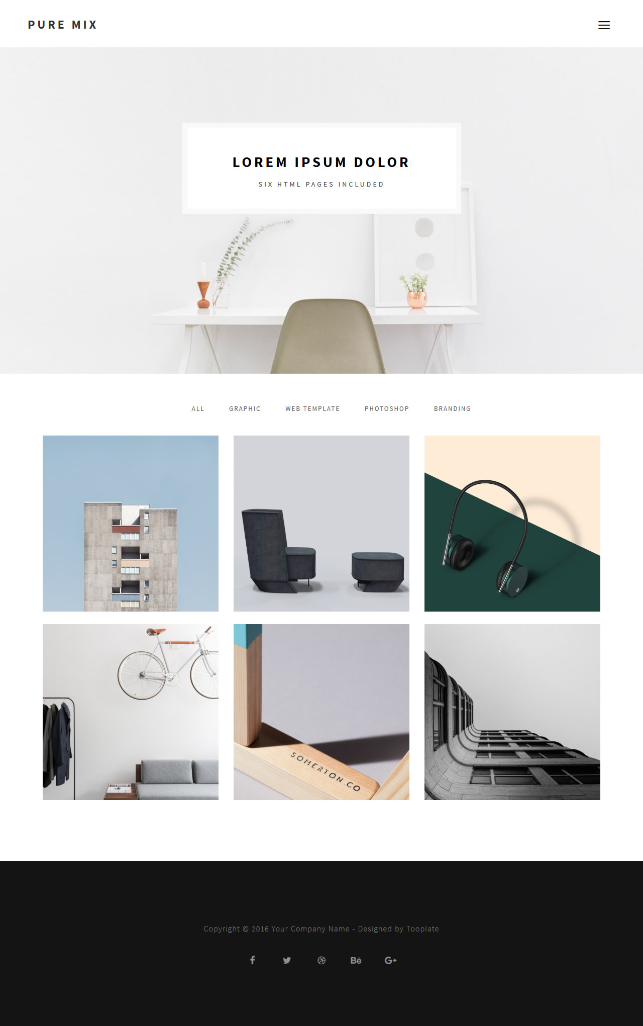 Pure Mix 6 pages - Free HTML CSS Templates