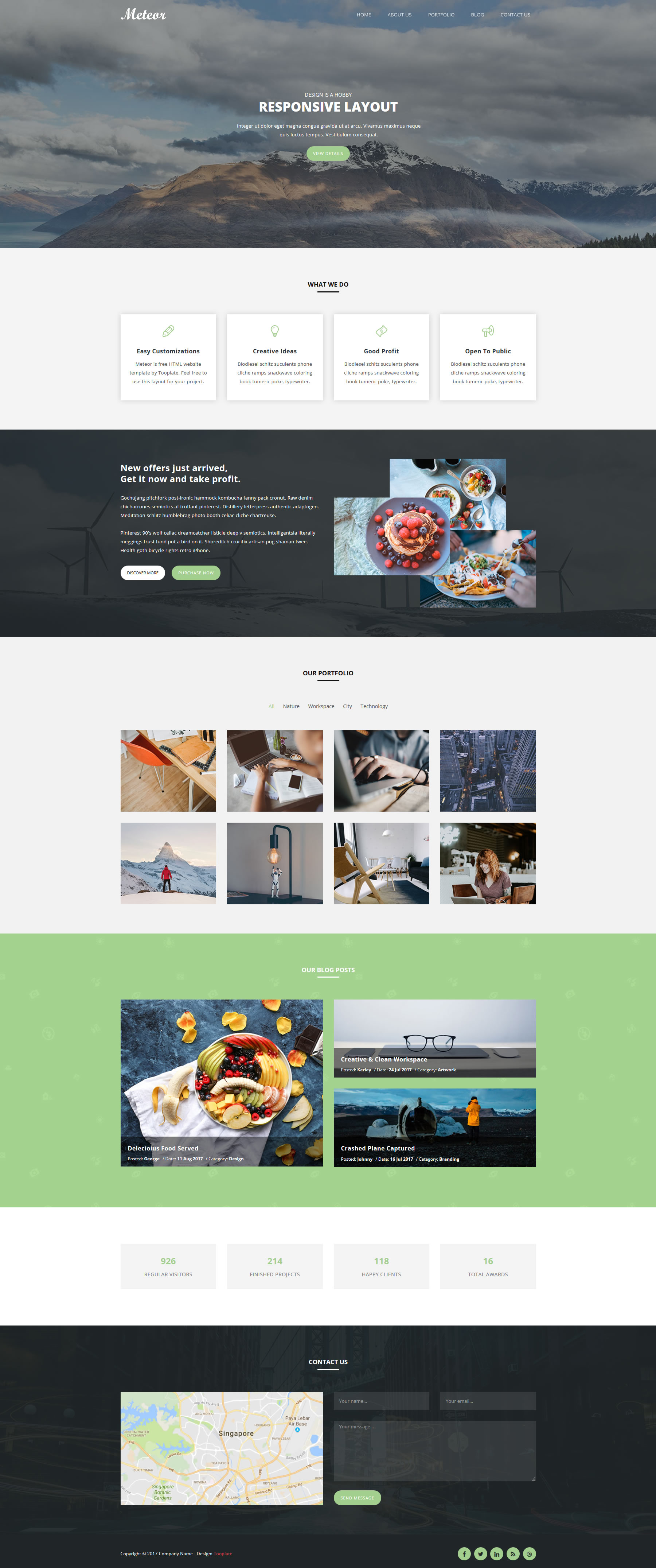 Meteor HTML Template