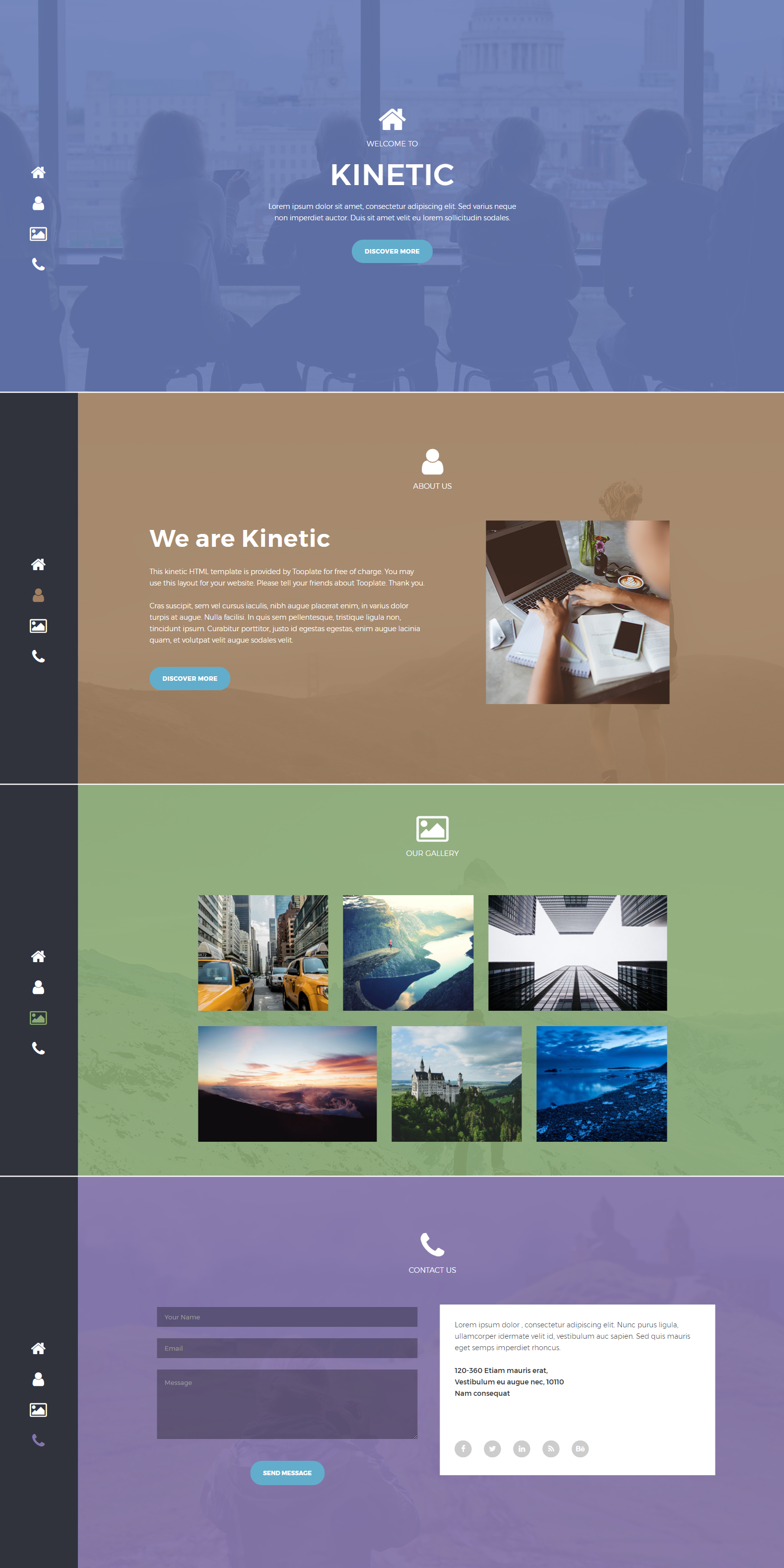 Kinetic HTML Template