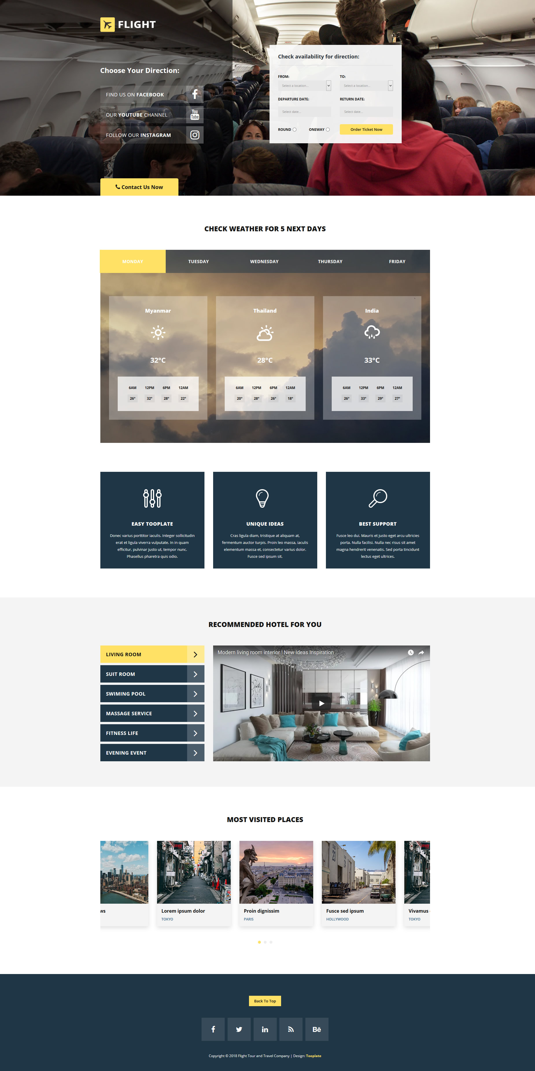 Flight HTML Template