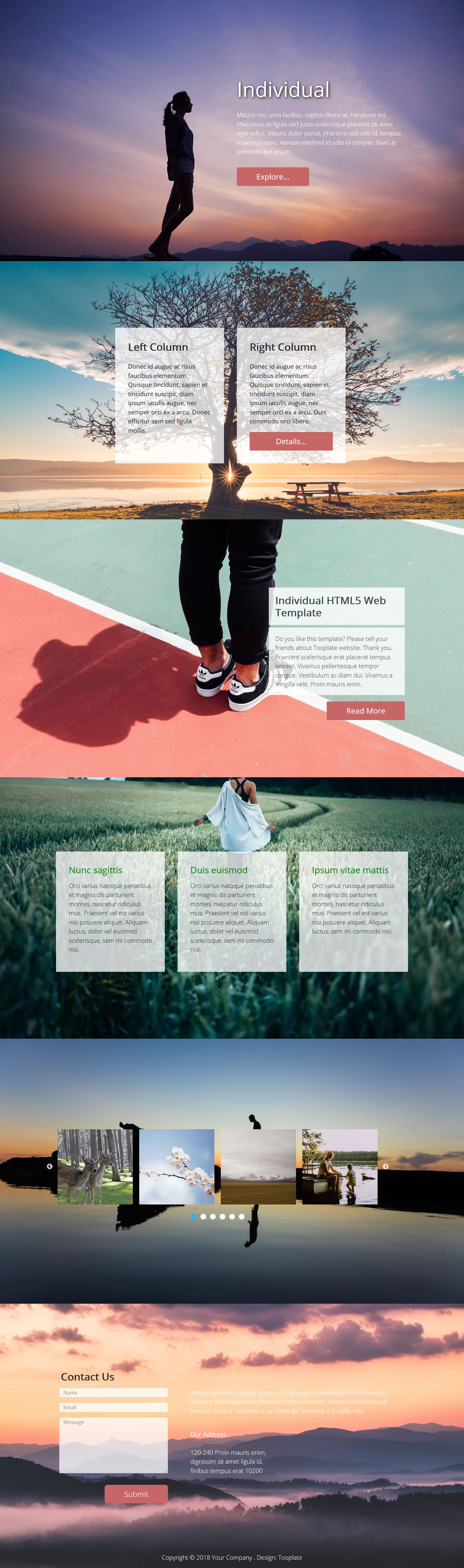 Individual HTML Template