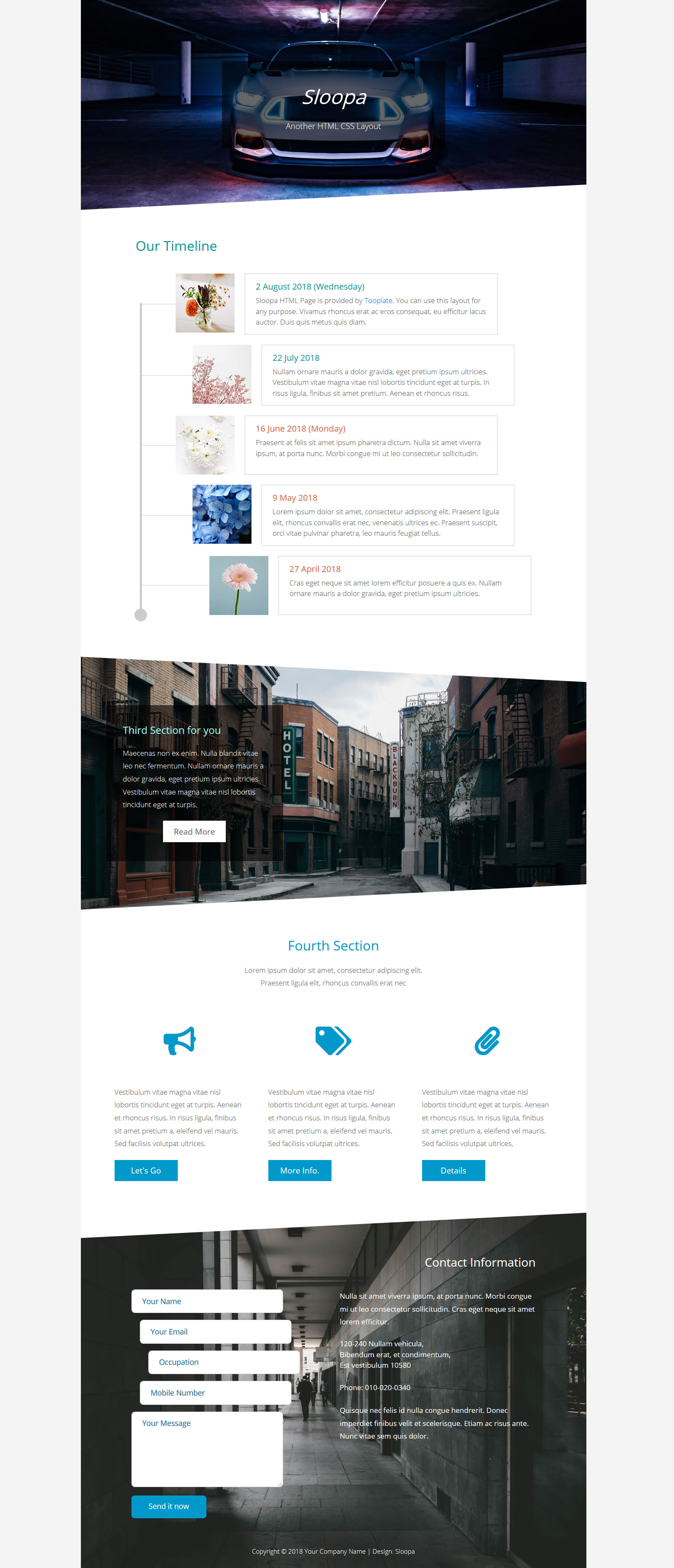 Sloopa Item List HTML Template