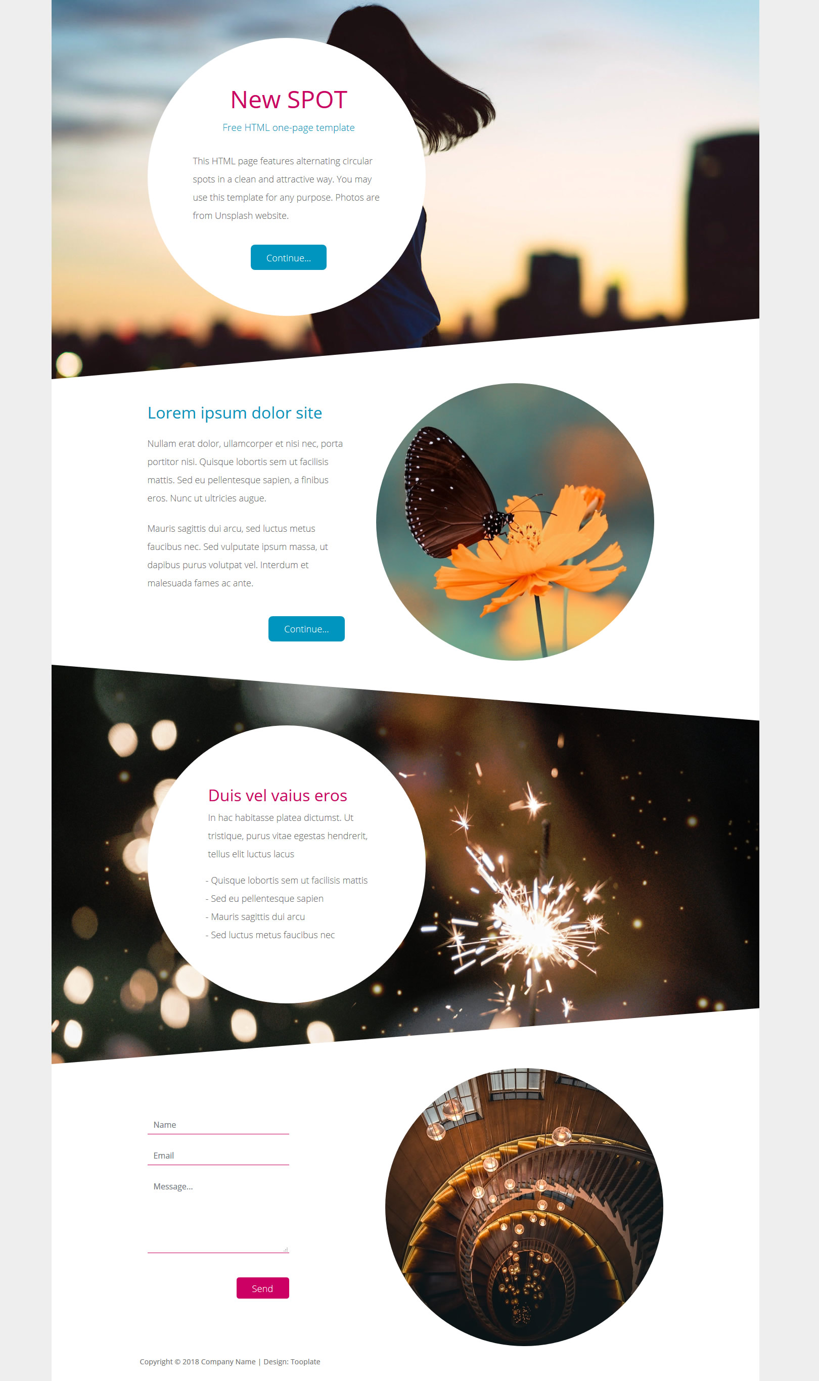 New Spot One-page HTML Template