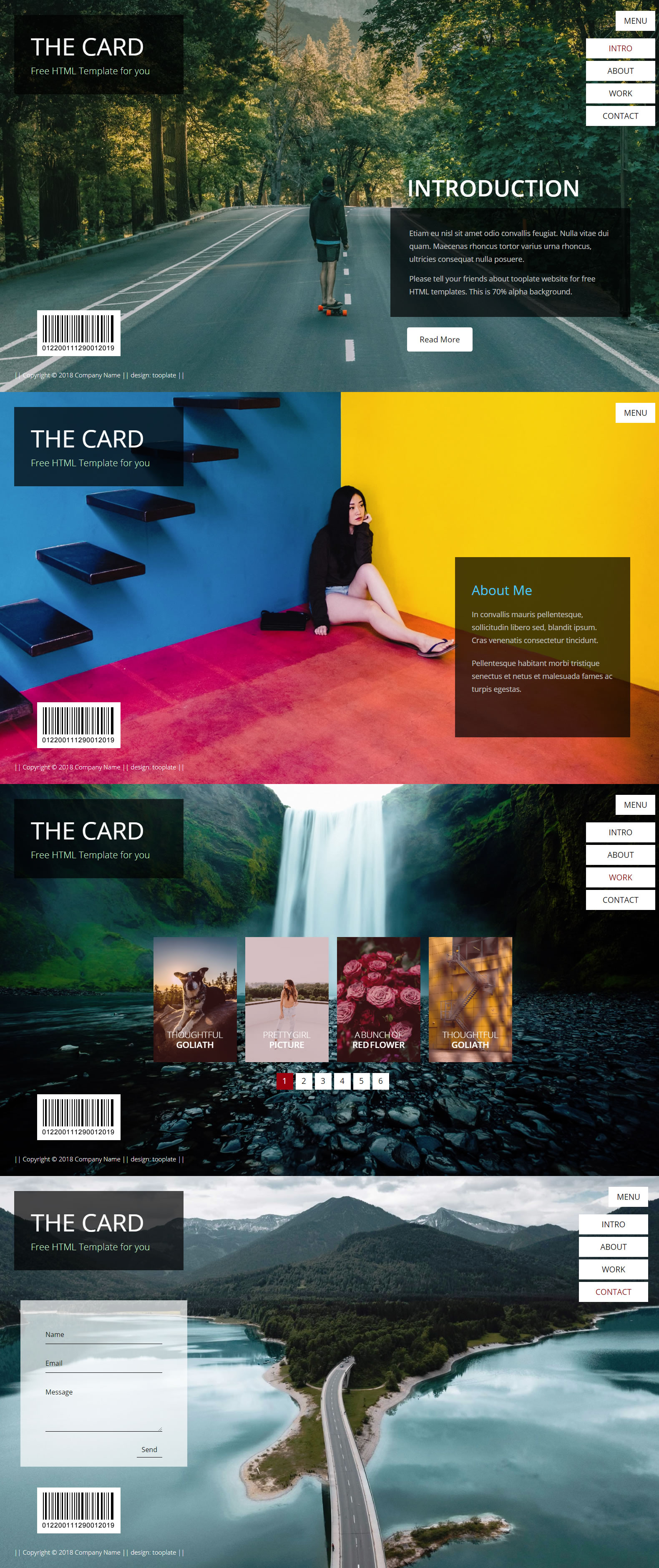 The Card Portfolio HTML Template