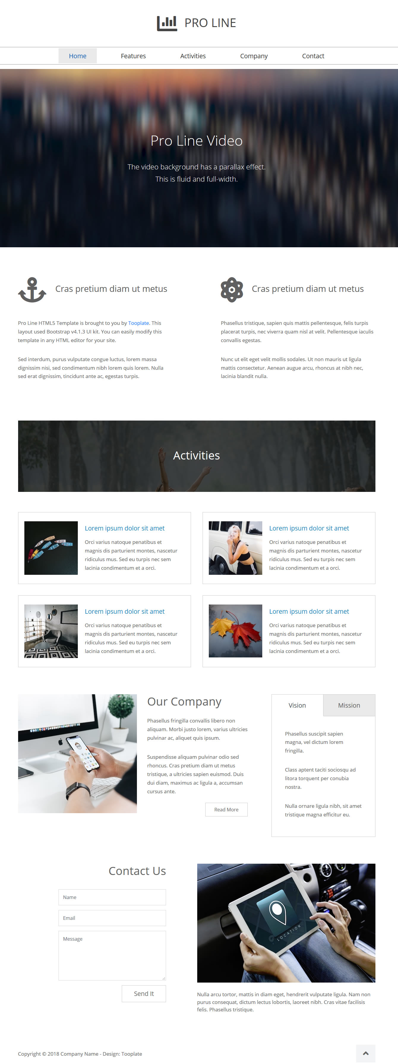 Pro Line Bootstrap 4 HTML Template