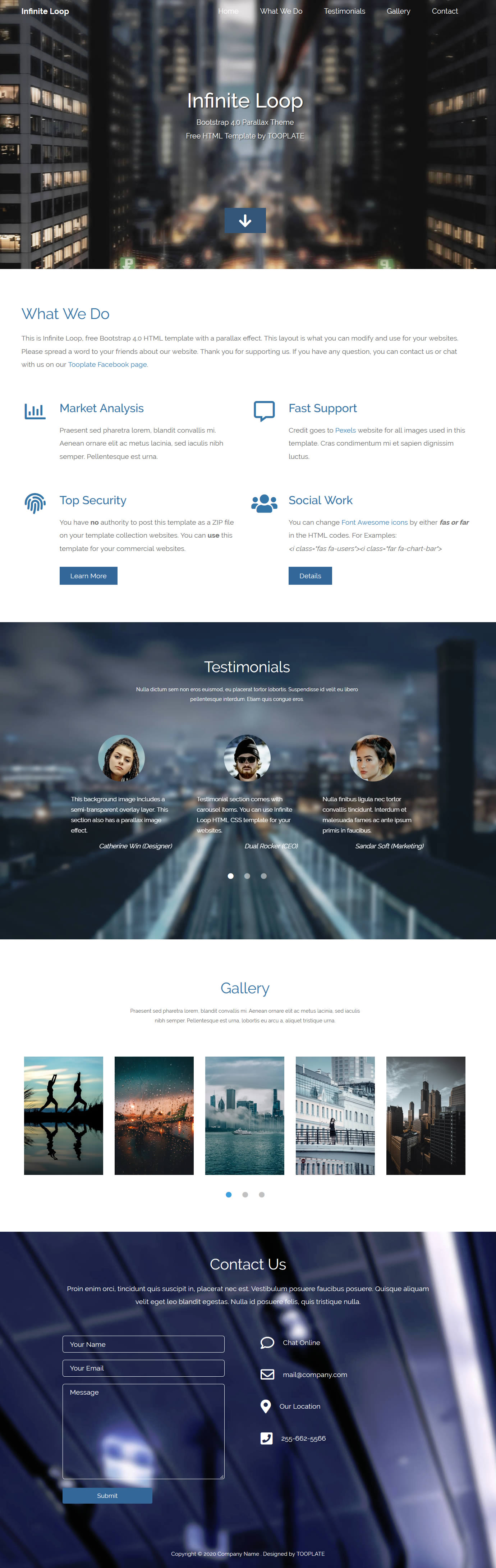 Infinite Loop HTML Template