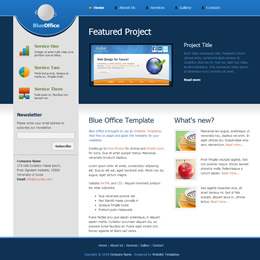 Blue Office template