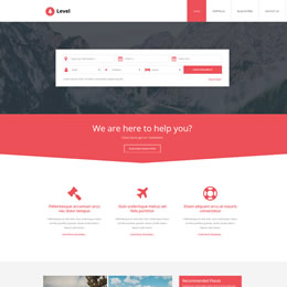 level template - Free Web Templates