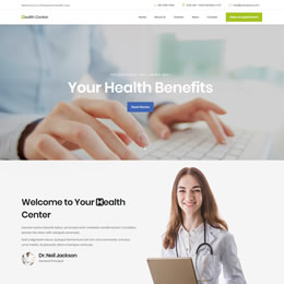 Health Center template