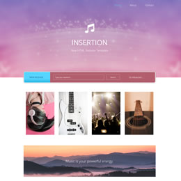 Insertion Bootstrap 4.1 template