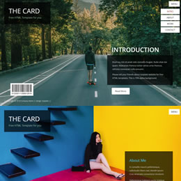 The Card Portfolio template
