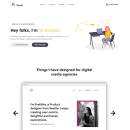Marvel Bootstrap 4 template