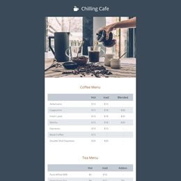 Chilling Cafe template