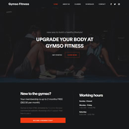 Gymso Fitness template